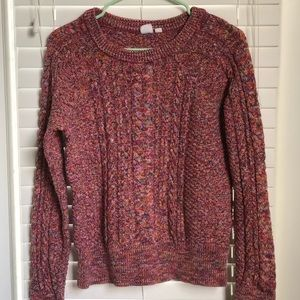 Gap pink/multicolor knit sweater